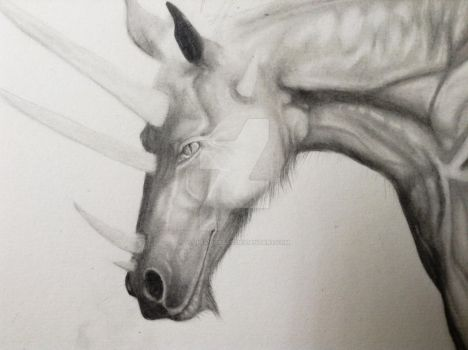 Equine Dragon WIP close up by Vulpes-Corsac