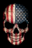 American Flag Skull by Jeff-Bartels