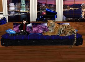 IMVU Products - Celestial Tiger Couch by Levi-Ackerman-Heicho