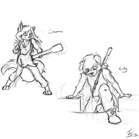 Neatened Sniper N Guitar Girl by fabman132
