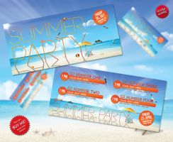 Summer Party - Flyer template by isoarts2