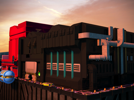 3D Work: The Outlander Club - sunset by ionrayner