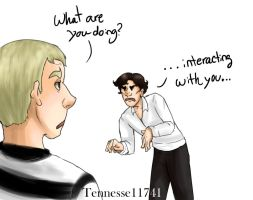 SHERLOCK INTERACTS WITH JOHN by Tennessee11741