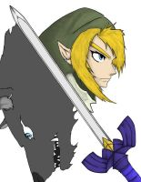 Link and Wolf WIP by CaptainDeath