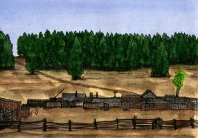 Trans-Siberian, A village without a station by Vokabre