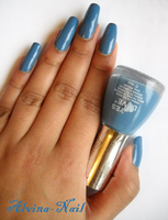 yes love blue by alvina-nail