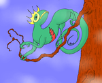 Kecleon on a tree by heavenriver