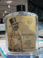 Gentleman Cat's Whiskey by AmberStoneArt