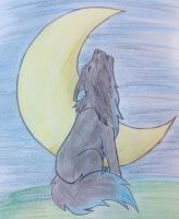 howling wolf by BlueWolf002