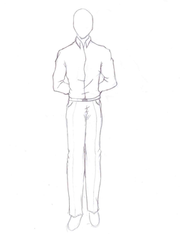 Standing Man-Clothes Training by SanoraBluebird