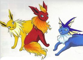 Eeveelutions by Kainaa