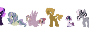 mlp: if mane6 are with a stallion or a dragon by karsisMF97