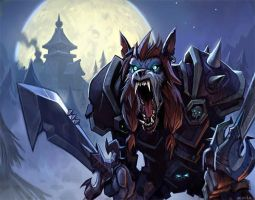 Worgen Deathknight by GWhitehall