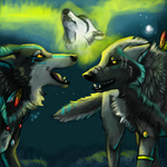 Storytelling under the lights by Akadafeathers