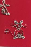 Paper Quilling: Mice by Tiffers4Christ88