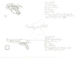 ThroughNineEyes Concepts: CPD Handguns by Primogenitor34