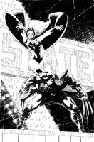 Wolverine and Storm by RyanStegman