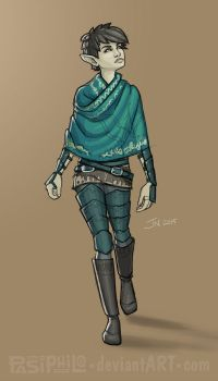 Lemeria Leafringer - Halfling Rogue by Pasiphilo