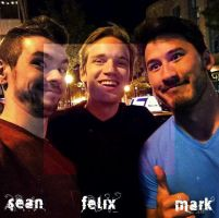 Pewdie, Mark And Jack by LadySakuraAvalon