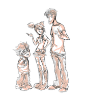 .:TFP - Human Allies : Jack, Miko and Raf:. by JACKSPICERCHASE