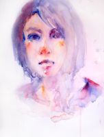 Watercolor Self-Portrait No.3 by jia-jia