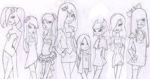 rough sketch nightmare girls by hetl
