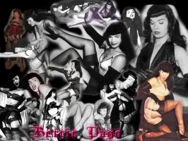The Many Faces of Bettie Page by pixelatedxdeath