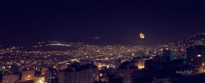 Nablus and The Moon by Mufeed