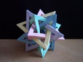 5 intersecting tetrahedra-mini by Annalease