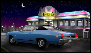 Chevelle at a Diner by Deviant-Quasar