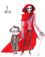 Poe and the Red Death by DemonCartoonist