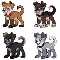 Puppies Adoptables CLOSED by MikasAdoptables