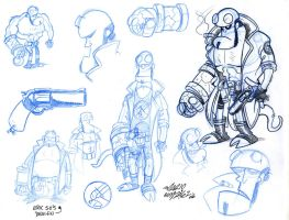 Hellboy ''sketches'' by Zorgia