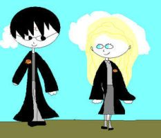 harry and luna by coolblue110 by HogwartsArt