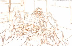 The Hobbit : Loyal Family_2 New Year's Eve by Rosalind-WT