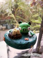 Angry Birds-Pig Bottle Topper by margemagtoto