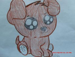 Art made by my little sister: Chibi puppy by Highlynx