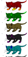 Cat Adoptables 3 CLOSED by KyuubiRawrz