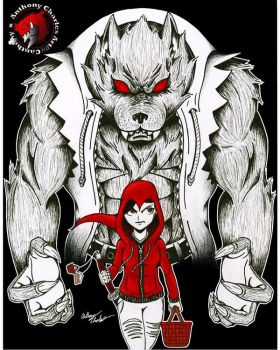 Little Red Riding Hood and The Big Bad Wolf  by Sumax209