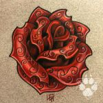 Engraved Ruby - Jeweled Rose by Wolfish-Dreams