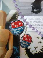 Domino's Pizza Earrings by elleira5jewellery