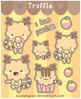 Truffle stickers by SqueakyToybox