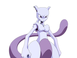 MewTwo Vectored by MetalFrog