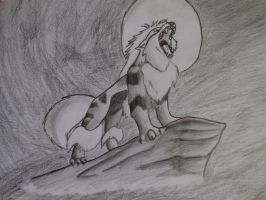 Arcanine Sketch by Dragonography