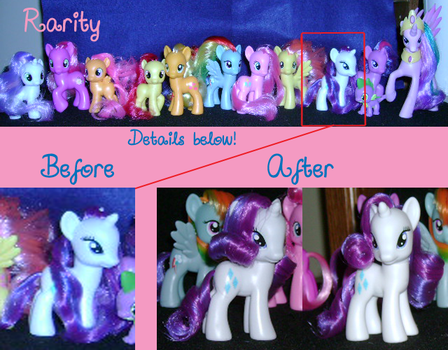 My Little Pony Restyling: Rarity by ShyraWolf