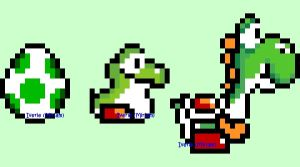 16 Bit Yoshi by iverie