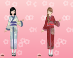 Swift and Trace in Kimonos by AlphaGirl404