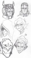 More Voltron Sketches by ConstantScribbles