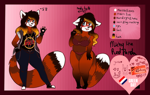 Michy the Red panda -Fursona ref- by BabyPandaPaws