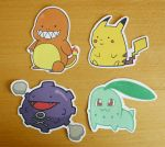 Pokemon Singles Sticker Set by ThePockyGirl